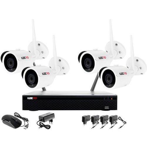 Monitoring bezprzewodowy z rejestratorem ip wifi, 4 kamera ip wifi 1080p, akcesoria marki Keeyo