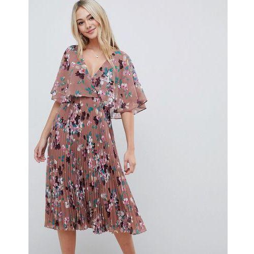 99504e33d14cc4 Asos design flutter sleeve midi dress ...
