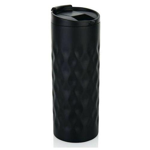 XD Design - Kubek termiczny Geometric 350 ml - czarny, kolor czarny
