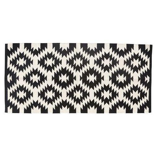 Dywanik bawełniany, tkany, kolor kremowo-czarny, 62.5x125 cm 500120 - oferta [058ddba82f93967a]