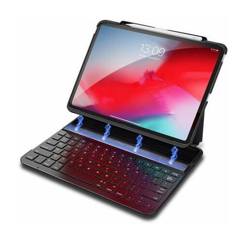 Dux Ducis magnetyczne etui case na tablet bezprzewodowa klawiatura Bluetooth iPad Pro 11'' 2018 czarny, kolor czarny