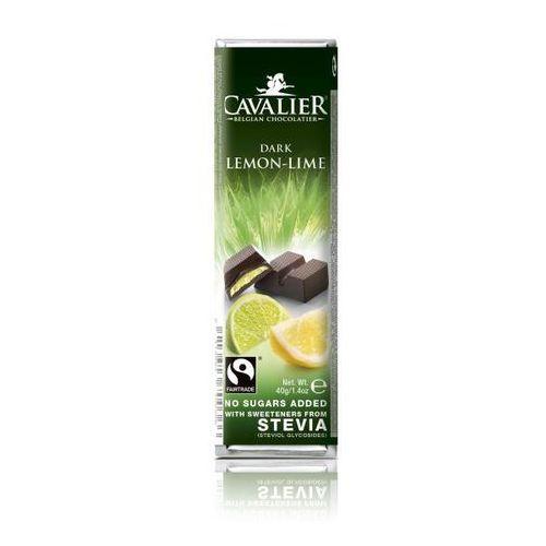 Baton z czekolady deserowej z nadzieniem cytrynowo limonkowym