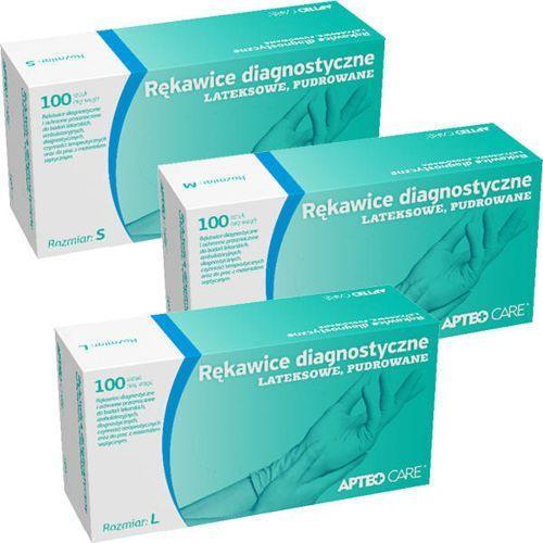 Synoptis pharma Apteo care rękawice latex pudrowane rozmiar l x 100 sztuk
