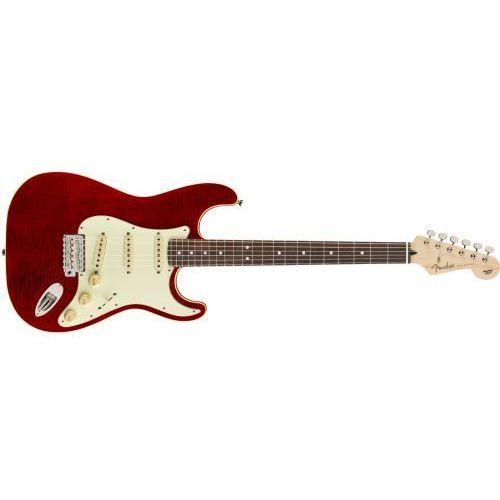 aerodyne classic stratocaster flame maple toprosewood fingerboard crimson red transparent gitara elektryczna marki Fender