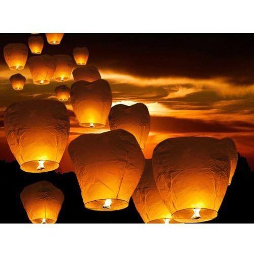 Latające lampiony życzeń - białe balony na ślub - 10 sztuk