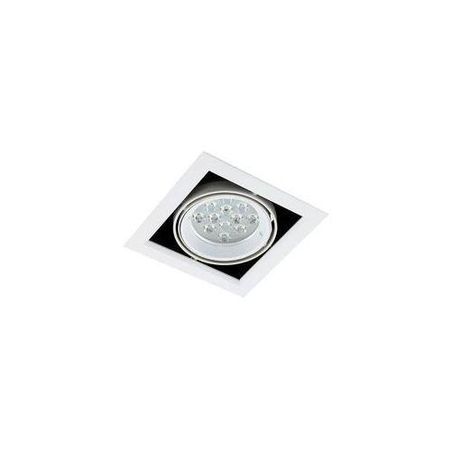 Spot lampa sufitowa vernelle tg0004-1 metalowa oprawa led 12w kwadratowy plafon biały marki Italux