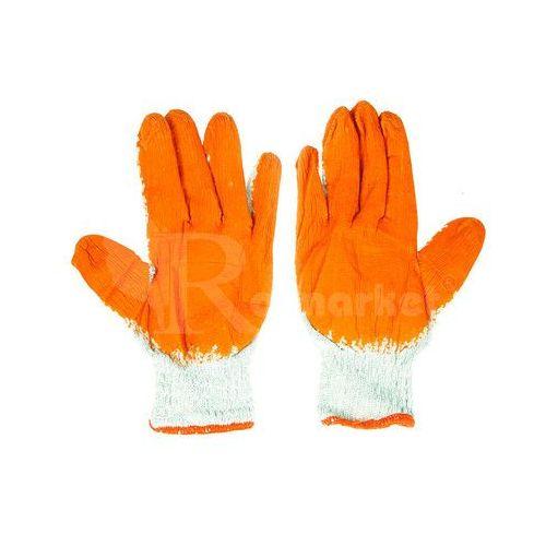 Duże rękawice robocze WAMPIRKI XL pomarańczowe (300 par) - 300par \ 10 ||XL