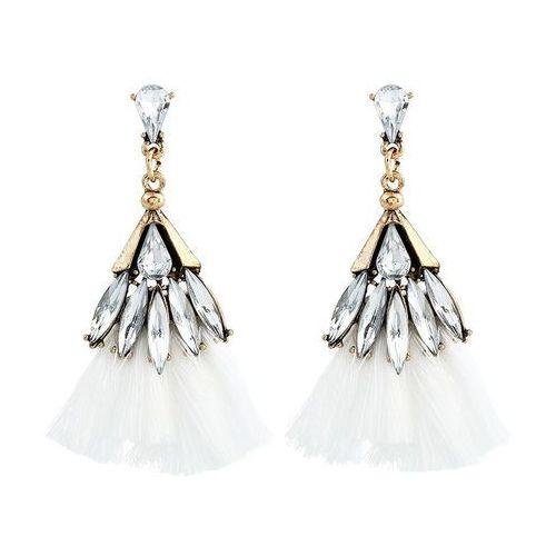 Cloe Kolczyki kryształki chwost białe - białe