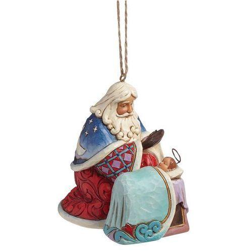 Mikołaj z dzieciątkiem Zawieszka Santa With Baby Jesus (Hanging Ornament) 4041110 Jim Shore figurka ozdoba świąteczna gwiazdor