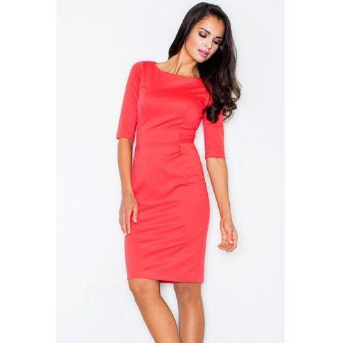 Figl 202 sukienka, kolor czerwony