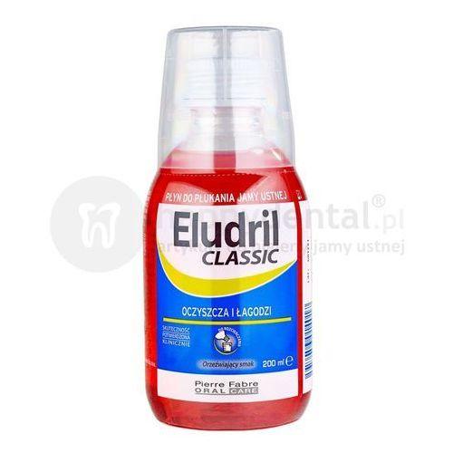 Eludril classic pozabiegowy płyn do płukania jamy ustnej z chlorheksydyną 0,10% chx 200ml (mały) marki Pierre fabre
