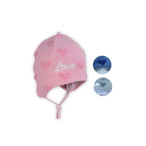 Czapka Rebos 7060 Girl 44cm, różowy, Rebos, 7060/44R