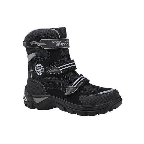 Trzewiki ocieplane Śniegowce BARTEK 44672-167 BRTK-Tex Natural Wool - Czarny (5904699380342)