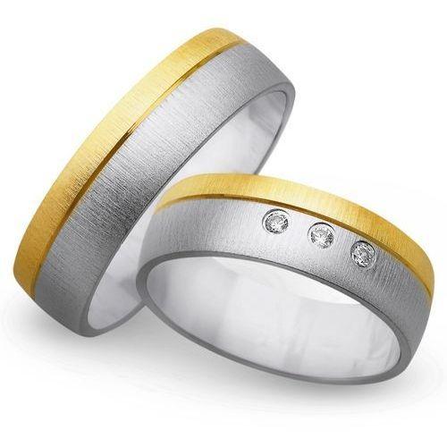 Obrączki z żółtego i białego złota 6mm - O2K/146 - produkt dostępny w Świat Złota