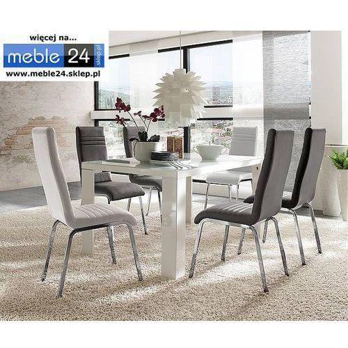 Lakierowany stół ze szklanym blatem tio 120/140/160/180/200 cm marki Meble24