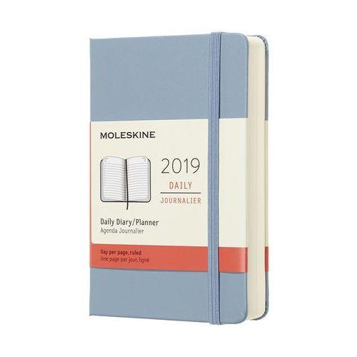 Kalendarz Moleskine 2019 Dzienny, Pocket, błękinty