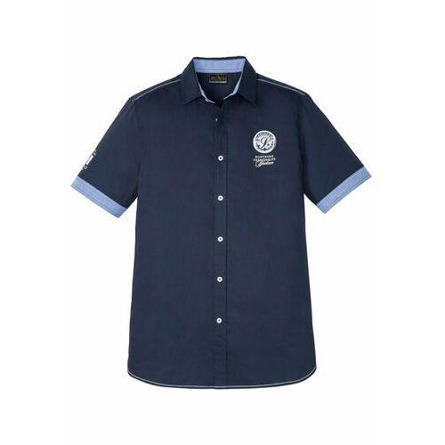 Koszula flanelowa w kratę Regular Fit bonprix jasnobrązowy w kratę, kolor niebieski