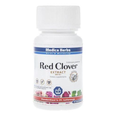 RED CLOVER WYCIĄG Z CZERWONEJ KONICZYNY STANDARYZOWANY DO 8% IZOFLAWONÓW 500 MG 45 KAPSUŁEK MEDICA HERBS SUPLEMENT DIETY (2000230521236)