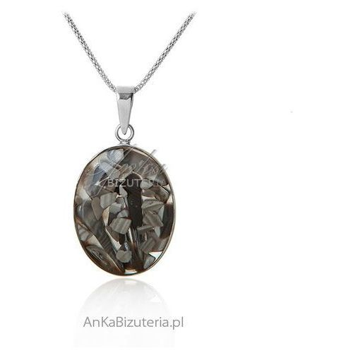 Srebrny wisior z krzemieniem pasiastym ze sklepu AnKa Biżuteria