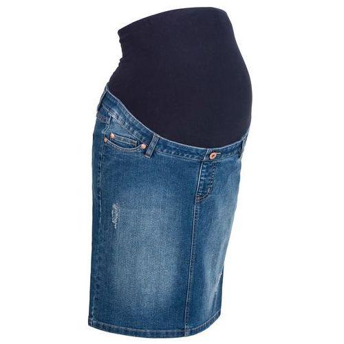"""Spódnica ciążowa dżinsowa """"super-stretch"""" bonprix niebieski """"stone"""", w 8 rozmiarach"""