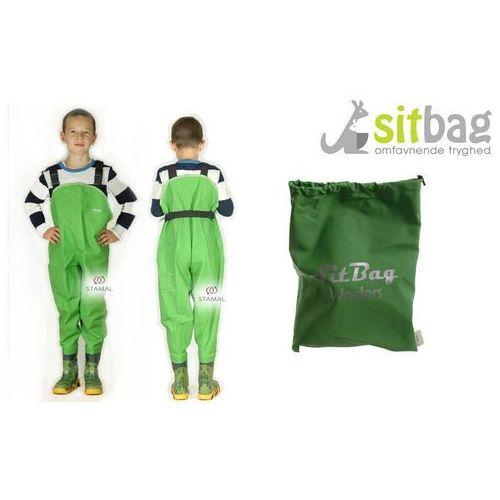 Wodery spodniobuty kalosze dla dzieci - zielony marki Sitbag