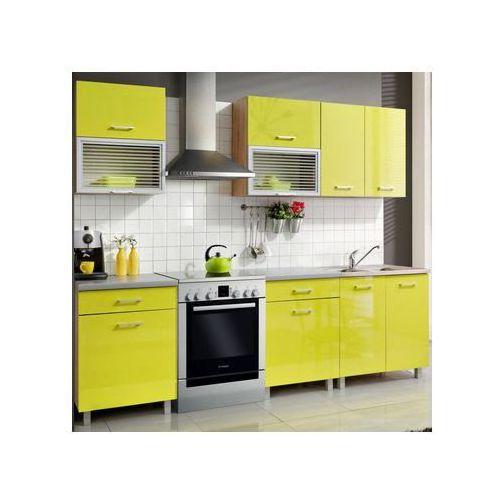 Meble okmed Zestaw mebli kuchennych fiona kolor limonka