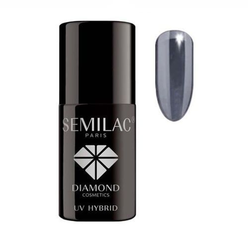 SEMILAC 7ml Diamond UV Hybrid 014 Dark Violet Lakier hybrydowy do paznokci (5901867972941)