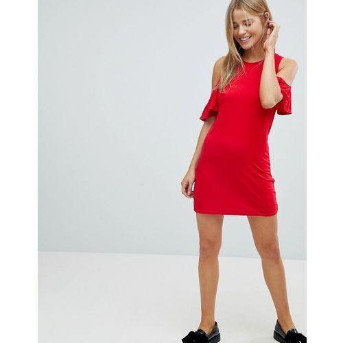Glamorous Cold Shoulder Dress - Red