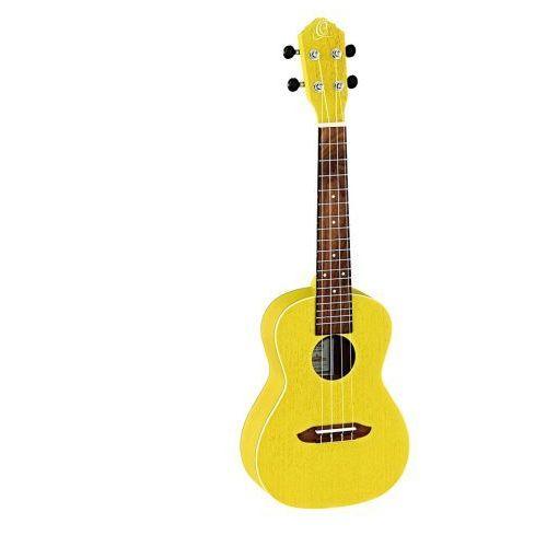 Ortega rusun transparent yellow ukulele koncertowe