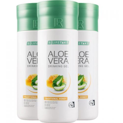 Żel do picia Aloe Vera Aloes z miodem 3pak