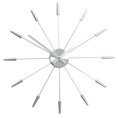 Zegar Nextime Plug Inn 58 cm silver