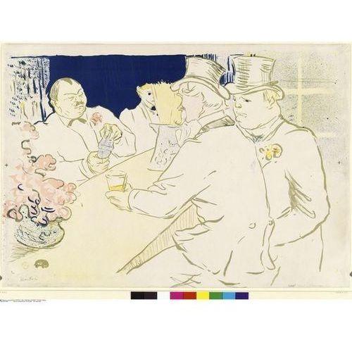 obraz Irish and American Bar Rue Royale - The Chap Book Henri de Toulouse-Lautrec (obraz)