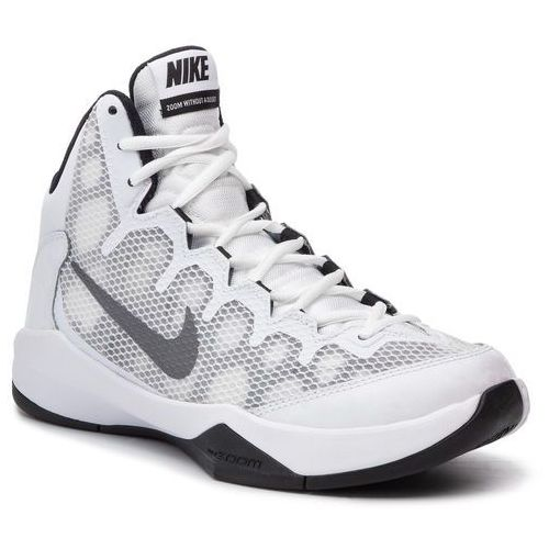 Buty - zoom without a doubt 749432 100 white/rflct silver/blk/cl grey marki Nike