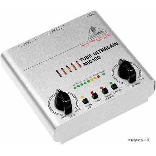 mic100 tube ultragain przedwzmacniacz marki Behringer