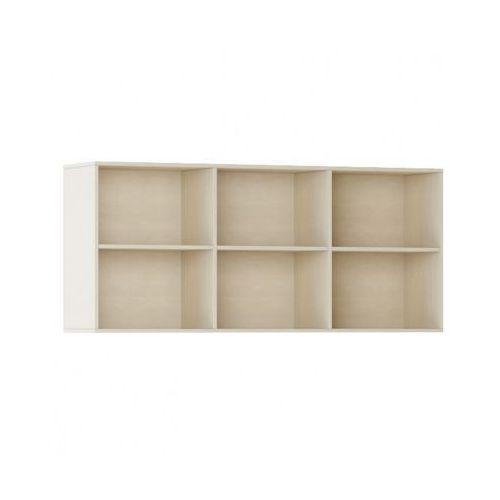 Biblioteka INTEGRO s półkami, wyższa, brzoza