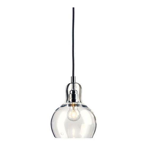 LAMPA wisząca LONGIS I 10121109 Kaspa szklana OPRAWA minimalistyczny ZWIS przezroczysty czarny, 10121109