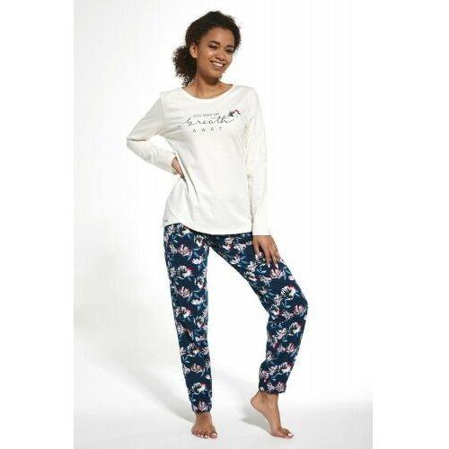 Bawełniana piżama damska Cornette 161/251 Breath ecru, kolor beżowy