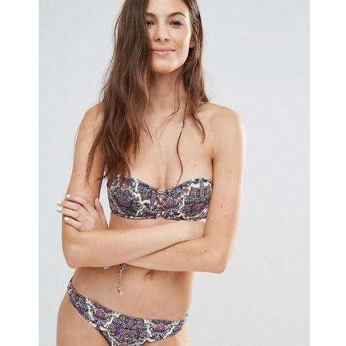 Undiz Printed Lattice Bikini Top - Multi, bikini