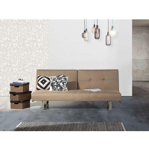 Sofa z funkcją spania beżowa - kanapa rozkładana - wersalka - DUBLIN (7081453603737)