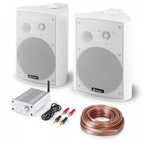 Zestaw nagłośnieniowy hi-fi bluetooth play wh głośniki z miniwzmacniaczem blueto marki Elektronik-star