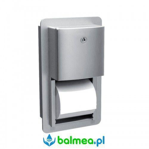 Wnękowy Pojemnik na dwie rolki papieru toaletowego MERIDA ROVAL - stal matowa
