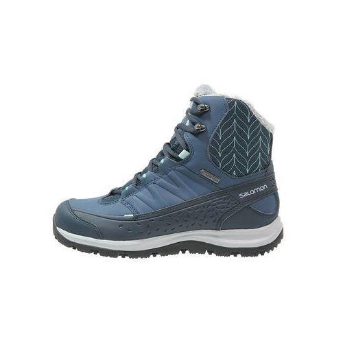 Salomon KAINA GTX Śniegowce deep blue/slate blue/bubble blue
