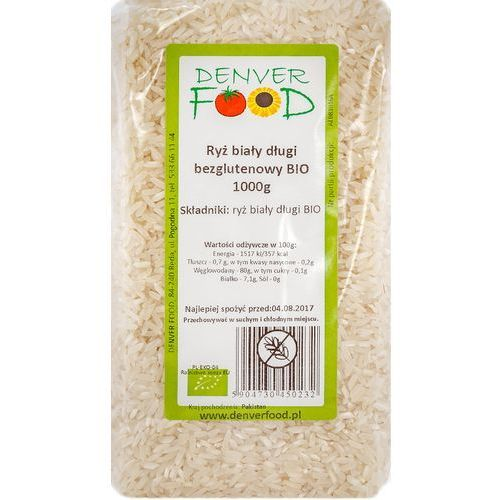 Denver food Ryż biały długoziarnisty bezglutenowy bio 1 kg (5904730450232)