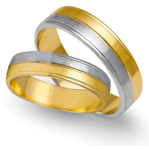 Obrączki z żółtego i białego złota 5mm - O2K/161 - produkt dostępny w Świat Złota