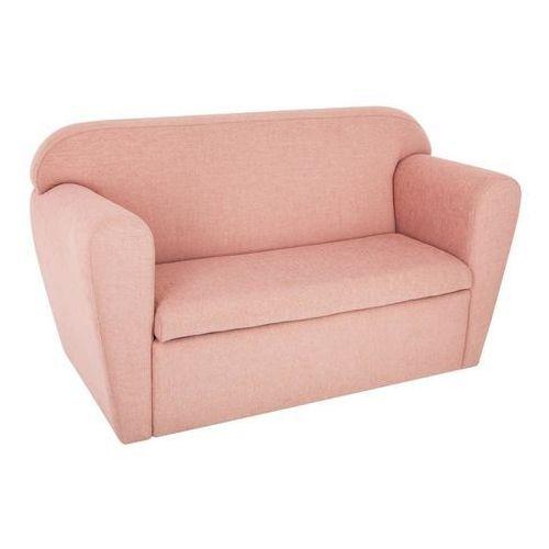 Sofa dwuosobowa ze schowkiem na zabawki - kolor różowy, 80 x 35 x 45 cm