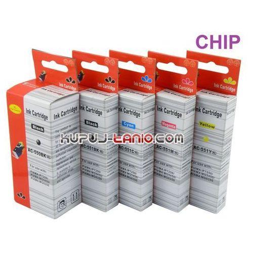 .PGI-550BK XL - CLI-551 XL tusze do Canon (5 szt z chipami, ARTE) do Canon iP7250, MG5450, MG5550, MG5650, MG6350, MG7150, MG7550 - produkt z kategorii- tusze