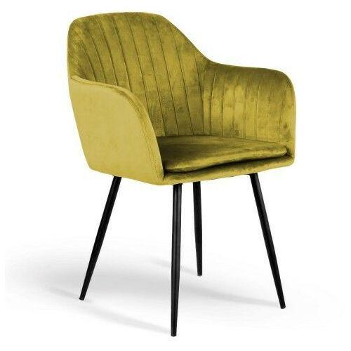 Meblemwm Krzesło tapicerowane 8174 żółty welur (9999001207413)