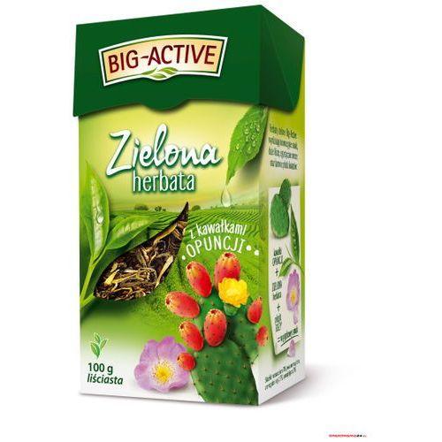 Herbata BIG-ACTIVE kawał.OPUNCJI 100g liściasta zielona