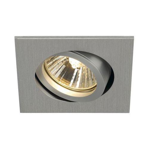oczko NEW TRIA 68 GU10 kwadratowe aluminium szczotkowane, SPOTLINE 113476