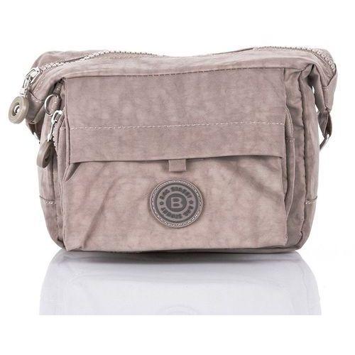 1bbf28f3c7270 Nieduża sportowa torebka listonoszka raportówka beżowa - beżowy marki Bag  street 49